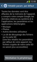 Samsung Galaxy Ace 3 - Aller plus loin - Restaurer les paramètres d'usines - Étape 7