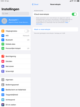 Apple iPad Air (2019) - iPadOS 13 - Data - maak een back-up met je account - Stap 12