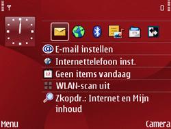 Nokia E63 - Voicemail - Handmatig instellen - Stap 1