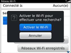 BlackBerry 9320 - Internet et connexion - Accéder au réseau Wi-Fi - Étape 5