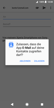 Sony Xperia XZ2 - E-Mail - E-Mail versenden - 1 / 1