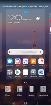 Huawei P20 Pro - Operazioni iniziali - Installazione di widget e applicazioni nella schermata iniziale - Fase 5
