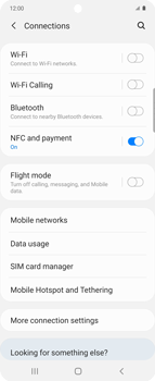 Samsung Galaxy Z flip - Internet and data roaming - How to check if data-connectivity is enabled - Step 5