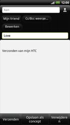 HTC X515m EVO 3D - E-mail - hoe te versturen - Stap 7