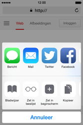 Apple iPhone 4S iOS 8 - Internet - hoe te internetten - Stap 5