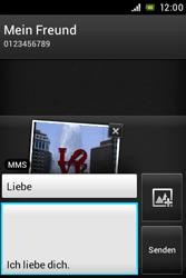 Sony Xperia Miro - MMS - Erstellen und senden - Schritt 17
