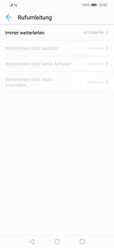 Huawei Mate 20 Lite - Anrufe - Rufumleitungen setzen und löschen - 8 / 9