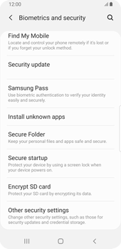 Samsung Galaxy S9 - Android Pie - Getting started - How to enable a SIM pin - Step 5