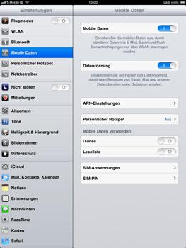 Apple iPad mini - Ausland - Im Ausland surfen – Datenroaming - Schritt 7