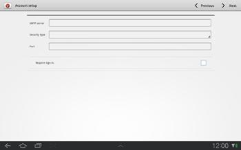 Samsung P7500 Galaxy Tab 10-1 - E-mail - Manual configuration - Step 9