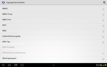 Samsung N8000 Galaxy Note 10-1 - Internet - Manuelle Konfiguration - Schritt 12