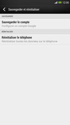 HTC One Max - Téléphone mobile - Réinitialisation de la configuration d