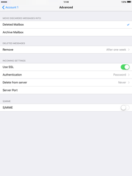 Apple iPad mini iOS 9 - E-mail - Manual configuration - Step 21