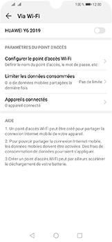 Huawei Y6 (2019) - Internet et connexion - Partager votre connexion en Wi-Fi - Étape 9
