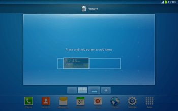 Samsung Galaxy Tab 3 10-1 LTE - Getting started - Installing widgets and applications on your start screen - Step 8