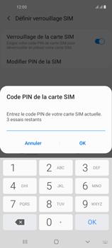 Samsung Galaxy A21s - Sécuriser votre mobile - Personnaliser le code PIN de votre carte SIM - Étape 9
