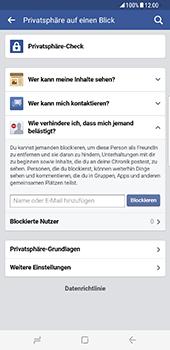 Samsung Galaxy S8 Plus - Datenschutz und Sicherheit - Datenschutzeinstellungen von Facebook ändern - 28 / 35