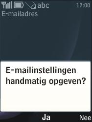 Nokia 3720 classic - e-mail - handmatig instellen - stap 12
