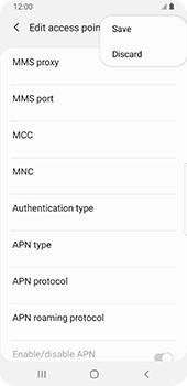 Samsung Galaxy S9 - Android Pie - MMS - Manual configuration - Step 14