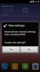 Huawei Ascend Y550 - MMS - Automatic configuration - Step 5