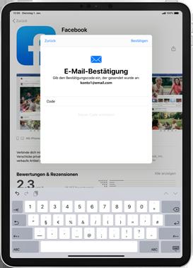 Apple iPad 9.7 (2017) - iPadOS 13 - Apps - Einrichten des App Stores - Schritt 21