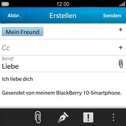 BlackBerry Q5 - E-Mail - E-Mail versenden - 1 / 1