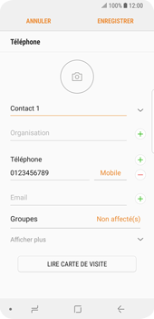 Samsung Galaxy S9 - Contact, Appels, SMS/MMS - Ajouter un contact - Étape 10