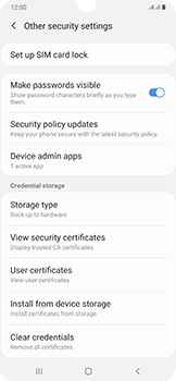 Samsung Galaxy A50 - Security - Set the PIN code for your SIM card - Step 6