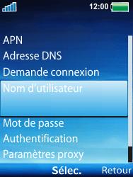 Sony W100i Spiro - Internet - Configuration manuelle - Étape 9