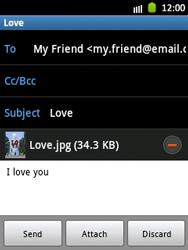 Samsung S5300 Galaxy Pocket - E-mail - Sending emails - Step 14