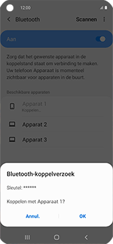 Samsung galaxy-xcover-pro-sm-g715fn - Bluetooth - Headset, carkit verbinding - Stap 8