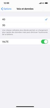 Apple iPhone X - iOS 14 - Réseau - Comment activer une connexion au réseau 4G - Étape 7