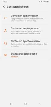 Samsung galaxy-a7-dual-sim-sm-a750fn-android-pie - Contacten en data - Contacten kopiëren van toestel naar SIM - Stap 6