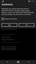 Microsoft Lumia 535 - Mobile phone - Resetting to factory settings - Step 7