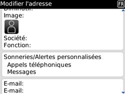 BlackBerry 8520 - Contact, Appels, SMS/MMS - Ajouter un contact - Étape 6