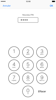 Apple iPhone 7 Plus - Sécuriser votre mobile - Personnaliser le code PIN de votre carte SIM - Étape 9