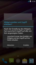 Wiko jimmy - Startanleitung - Installieren von Widgets und Apps auf der Startseite - Schritt 6