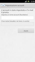 Sony Xperia U - E-mail - Configurazione manuale - Fase 14