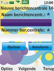 Nokia 7310 supernova - SMS - Handmatig instellen - Stap 8