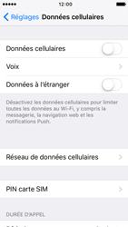 Apple iPhone 5 iOS 9 - Internet et roaming de données - Comment vérifier que la connexion des données est activée - Étape 4