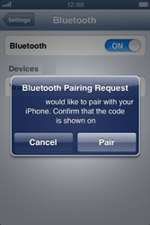 Apple iPhone 3GS - Bluetooth - connecting devices - Step 8