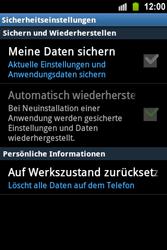 Samsung Galaxy Ace - Fehlerbehebung - Handy zurücksetzen - 7 / 10