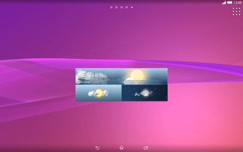 Sony Xperia Tablet Z2 LTE - Getting started - Installing widgets and applications on your start screen - Step 9