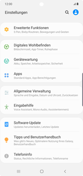 Samsung Galaxy Note 10 Plus 5G - Startanleitung - So fügen Sie eine Tastatursprache hinzu - Schritt 4