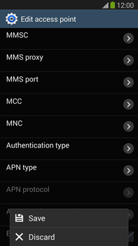 Samsung Galaxy Note III LTE - MMS - Manual configuration - Step 15
