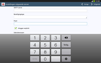 Samsung P5220 Galaxy Tab 3 10-1 LTE - E-mail - e-mail instellen: POP3 - Stap 13