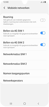 Samsung Galaxy A40 - netwerk en bereik - gebruik in binnen- en buitenland - stap 6