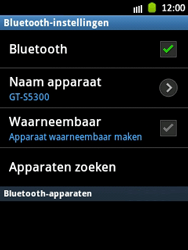 Samsung S5300 Galaxy Pocket - bluetooth - aanzetten - stap 7