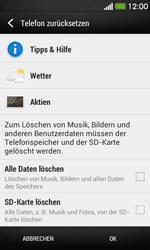 HTC Desire 500 - Fehlerbehebung - Handy zurücksetzen - 1 / 1