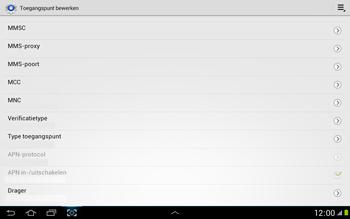 Samsung N8000 Galaxy Note 10-1 - Internet - handmatig instellen - Stap 12